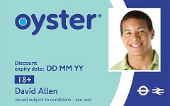 18 Plus Zip Oyster photocard