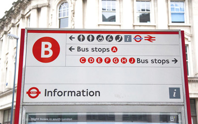 Bus information sign