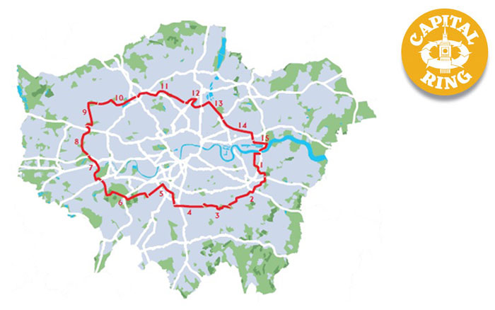 Capital Ring Walk Map Capital Ring Walk   Transport for London