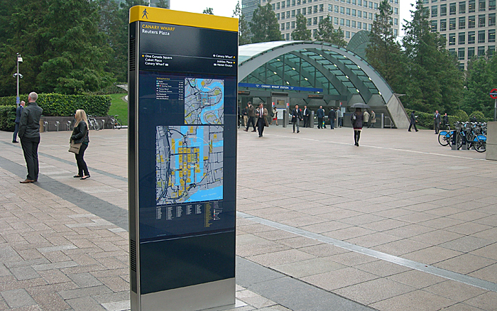 Digilith at Canary Wharf
