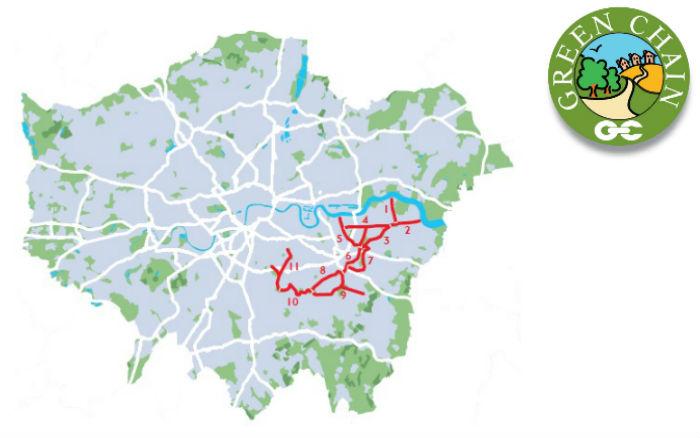 Green Chain Walk Map Green Chain Walk   Transport for London Green Chain Walk Map