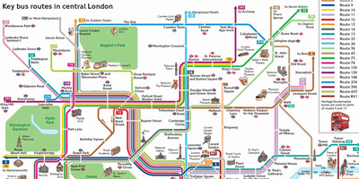 Map Around London.Getting Around London Transport For London
