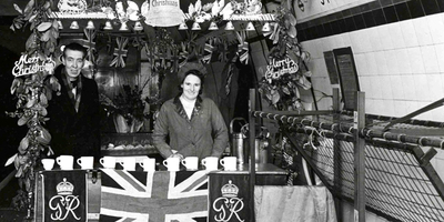 Christmas on the London Undergroun during World War II