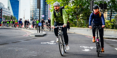 cyclists riding in London