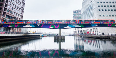 dlr train over water