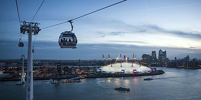 Enjoy a stunning night flight on Emirates Air Line