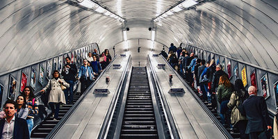 Photo of escalators by Tom Parsons