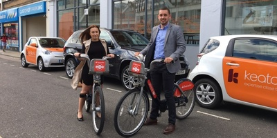 Keatons estate agents using Santander Cycles