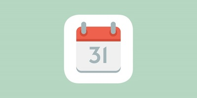 Icon showing a flip calendar
