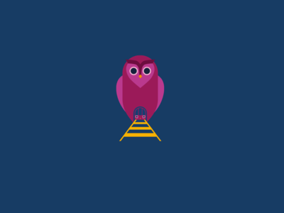 A stylised Tube emerges from an owl