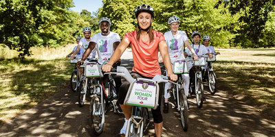 Dame Jessica Ennis-Hill leading the first Tour de Force ride