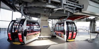emirates air line cabins in station