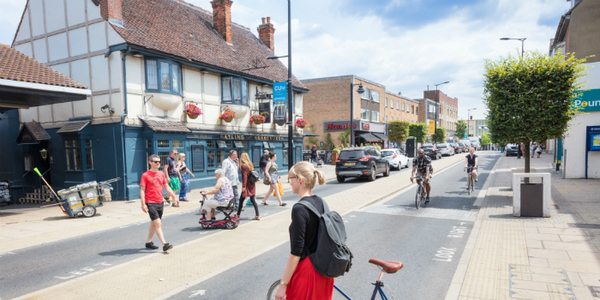 A safer, improved high street with different road users