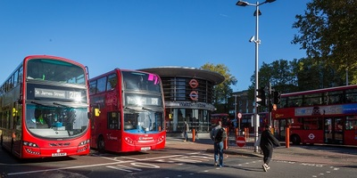 Buses in Walthamstow bus station