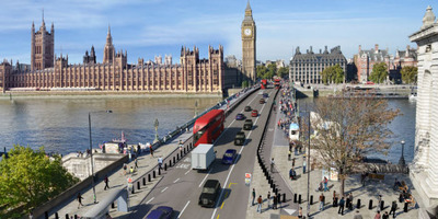 Westminster Bridge - illustrations with anti-terror barriers