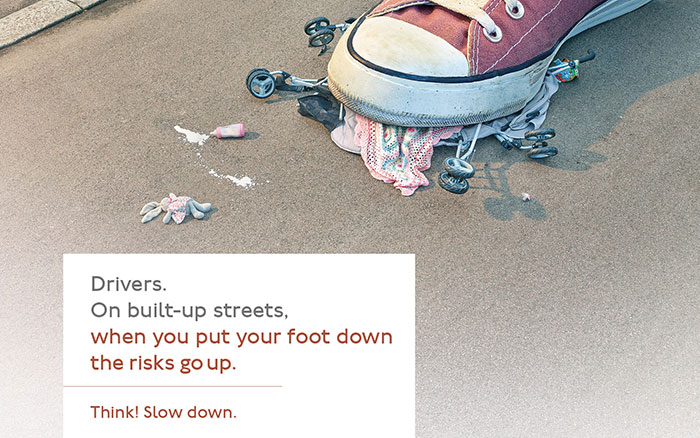 'Risk Up!' advertising campaign: Pram