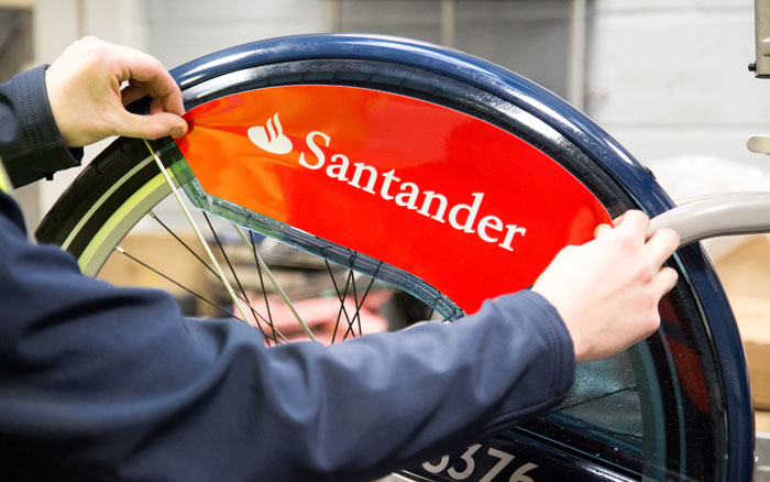 Santander cycles - wheel guard