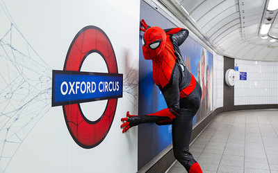 spiderman in oxford circus