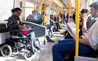 Wheelchair user on the Tube