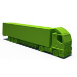 articulated lorry cartoon
