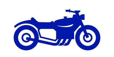 outline of motorcyle for ultra low emission zone (ulez)